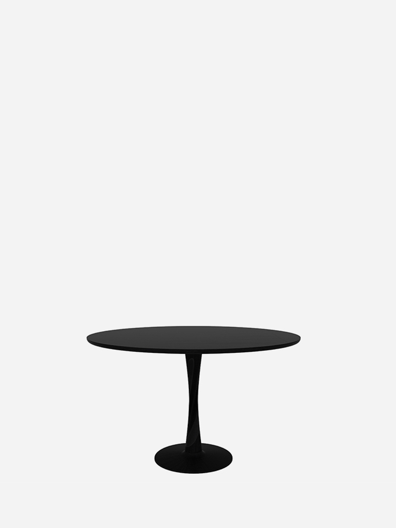 Torsion Dining Table – Oak Black – Ø127