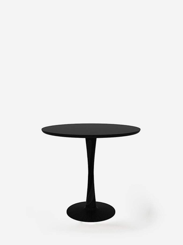 Torsion Dining Table – Oak Black – Ø90