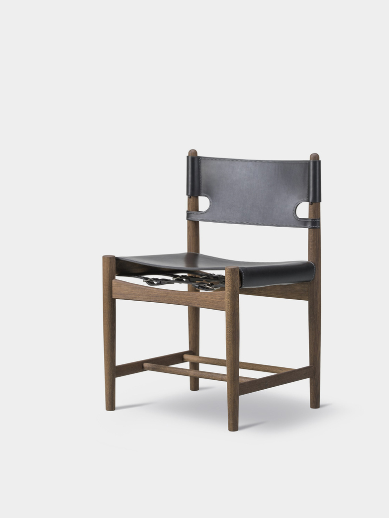 The Spanish Dining Chair - Smoked Oak/Black