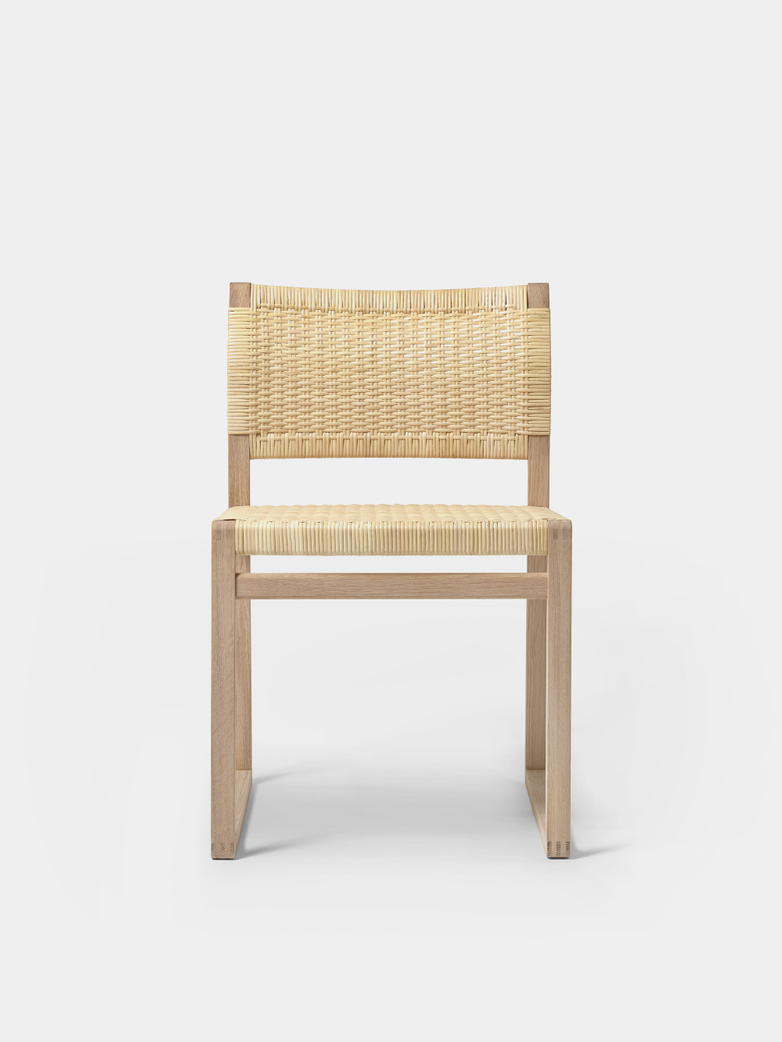 BM61 Chair - Cane Wicker/Oiled Oak