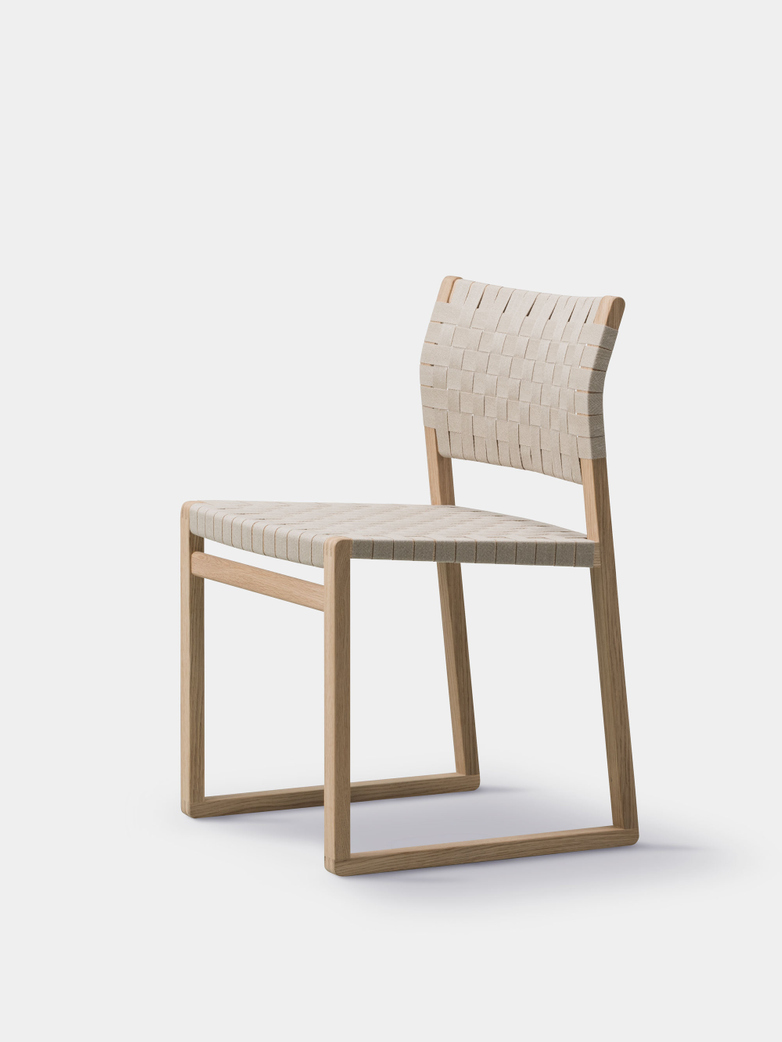 BM61 Chair - Linen Webbing/Oiled Oak