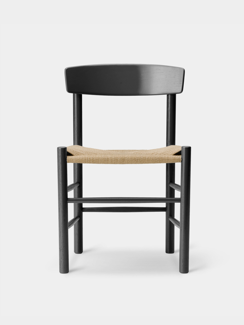 J39 Chair - Black Lacquered Oak/Natural