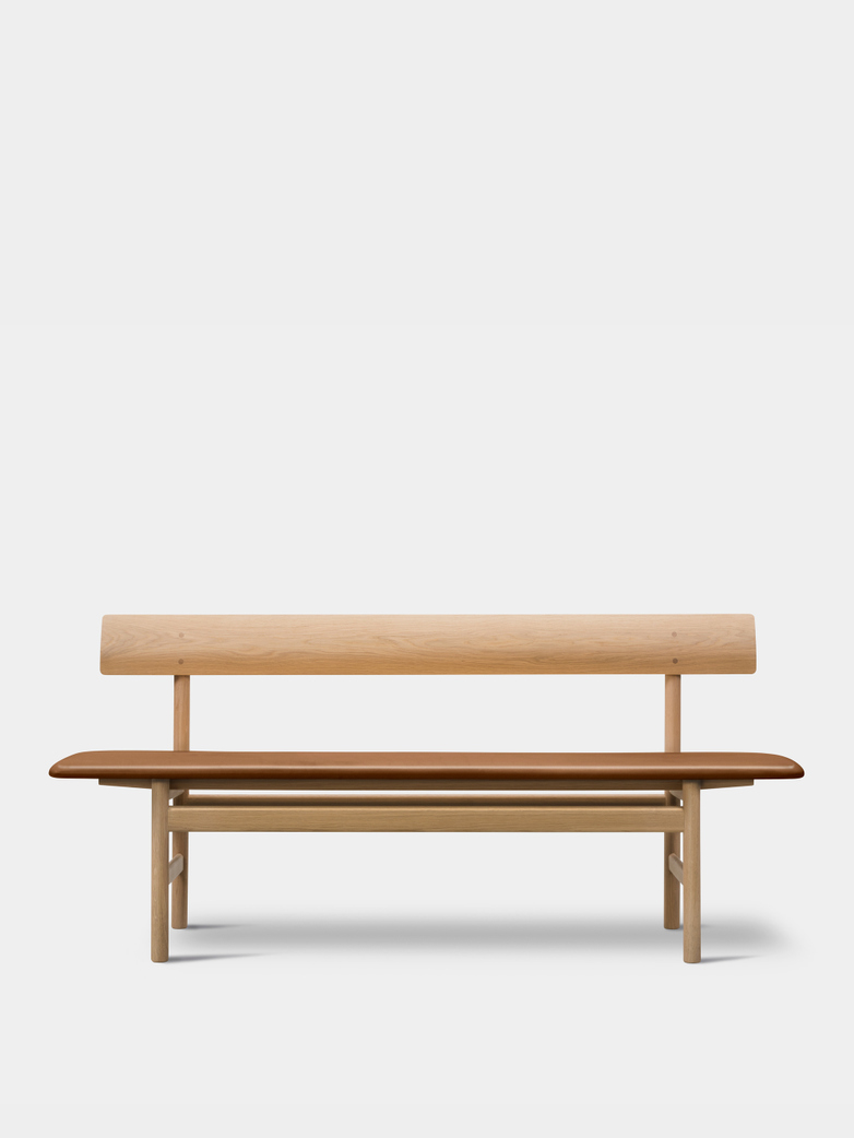 Mogensen Bench 3171 – Soaped Oak/Leather Cognac 95