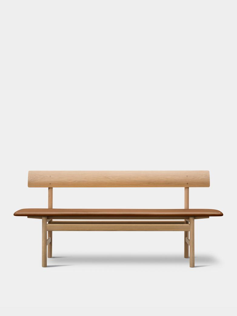 Mogensen Bench 3171 – Soaped Oak/Leather Cognac 95