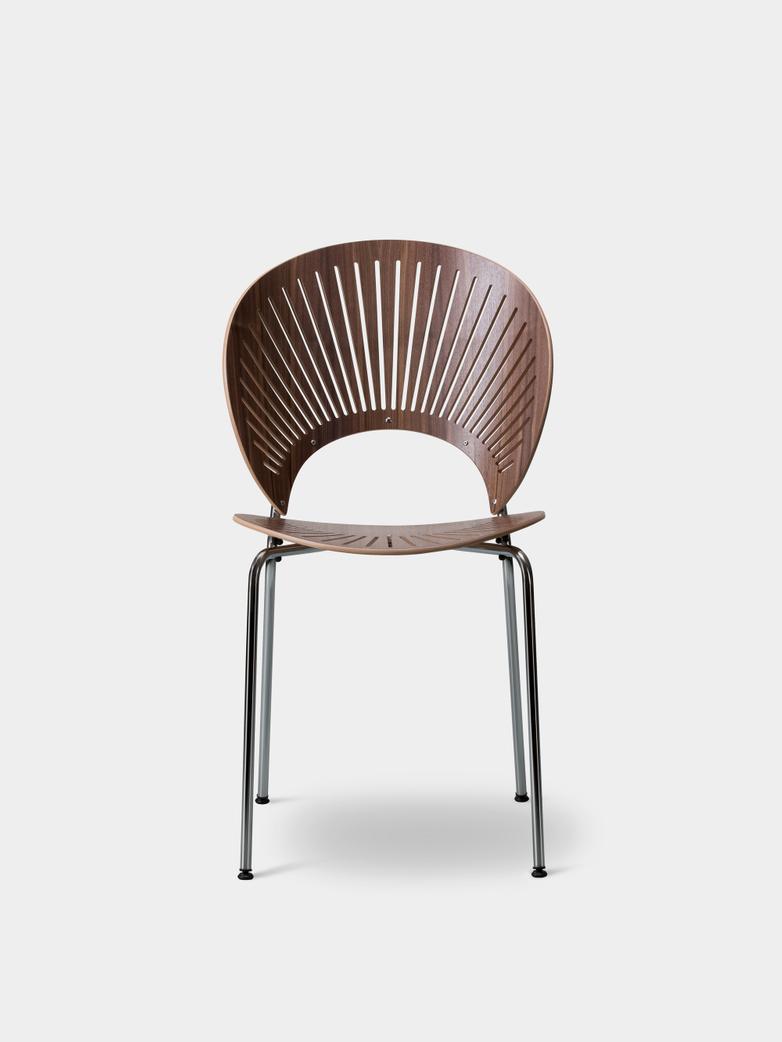 Trinidad Chair - Walnut/Chrome