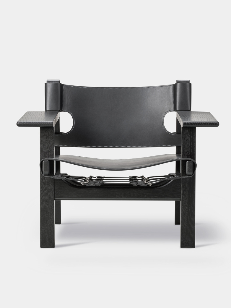 The Spanish Chair - Black Lacquered Oak/Black