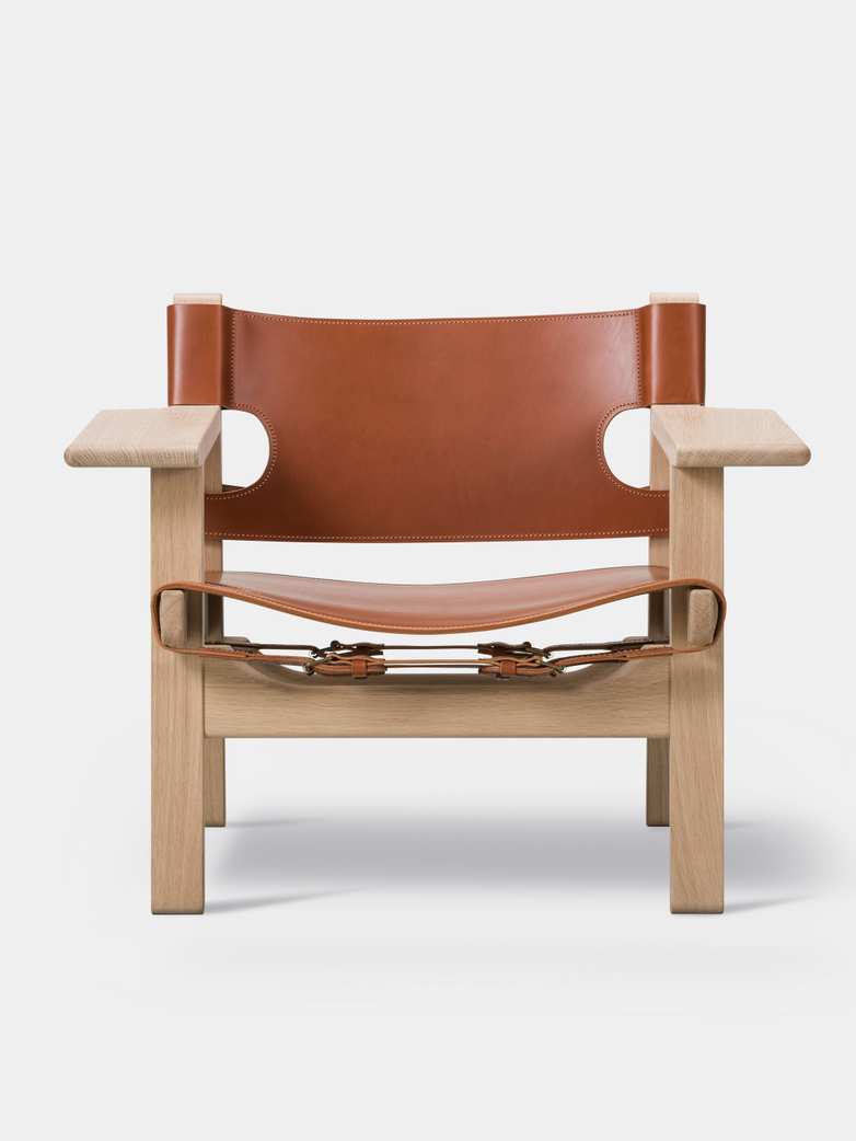 The Spanish Chair - Soaped Oak/Cognac