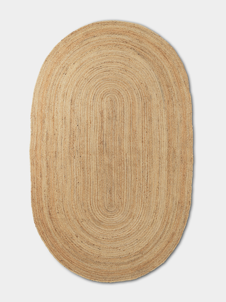 Eternal Oval Jute Rug – Natur