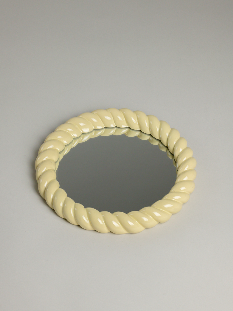 Braid Mirror Round – Yellow
