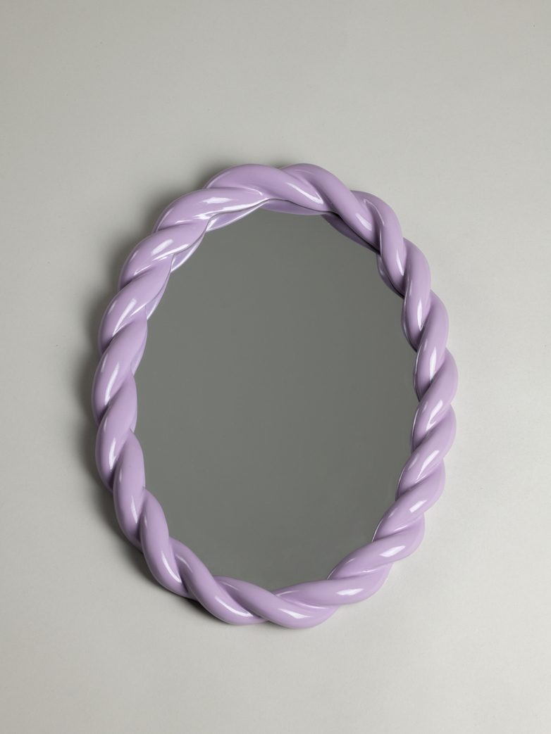 Braid Mirror Oval – Lilac
