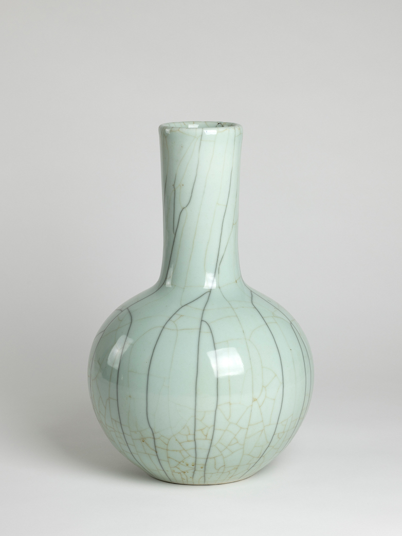 Straight Neck Vase Tea Ink