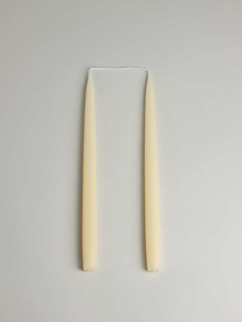 Tapered Candle – Ivory Set of 2