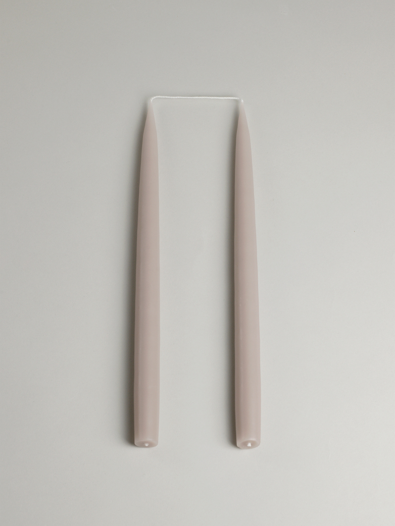 Tapered Candle – Linnen Set of 2