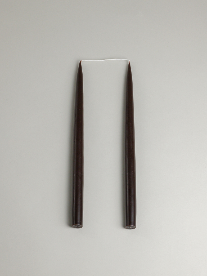 Tapered Candle – Chocolate Brown Set of 2