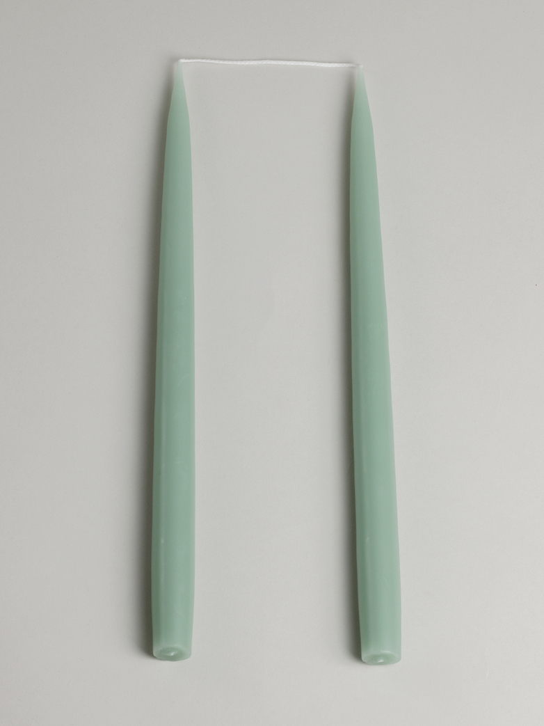 Tapered Candle – Light Reseda Green Set of 2