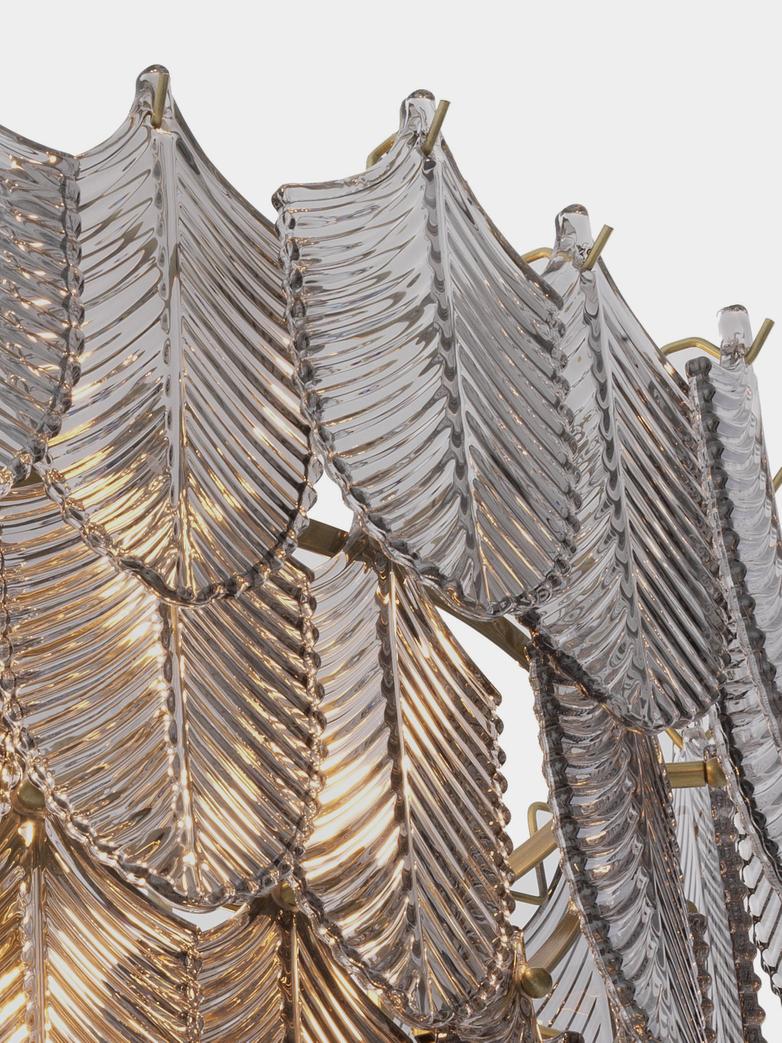 Valence Chandelier - Small - Brushed Brass/Smoke Glass
