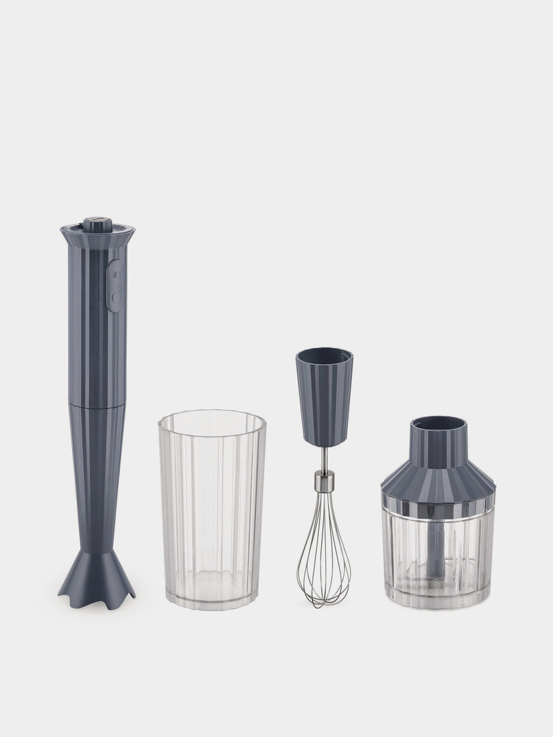 Plissé Hand Blender Set – Grey