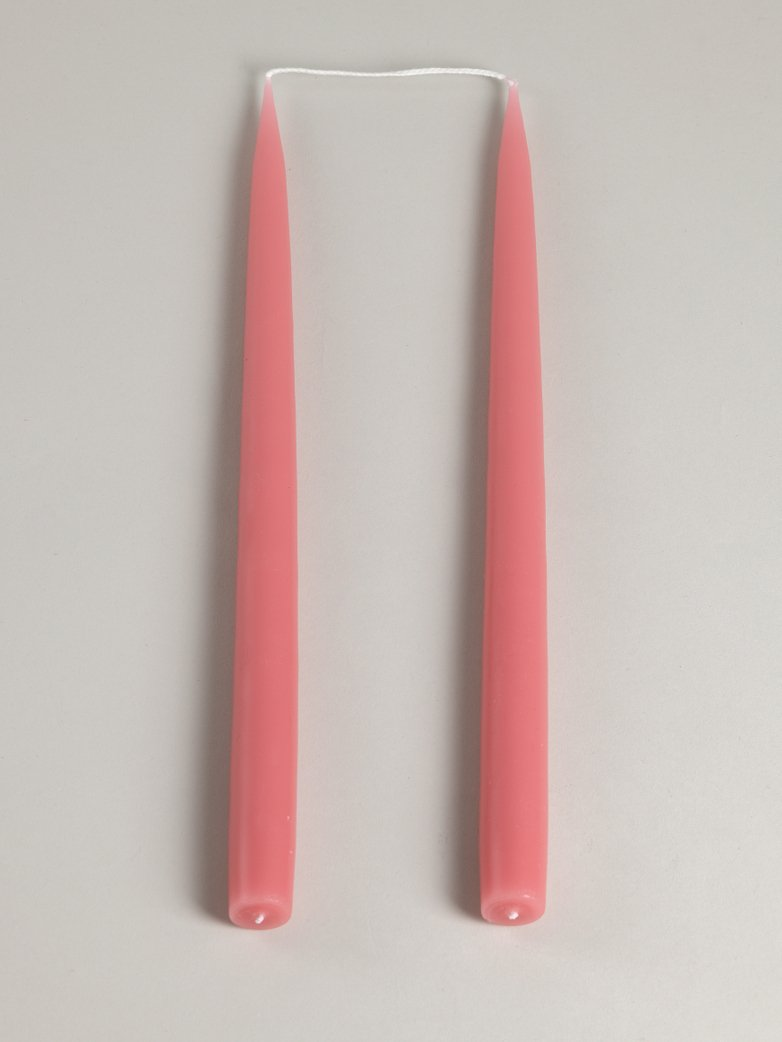 Tapered Candle – Dark Old Rose – Set of 2