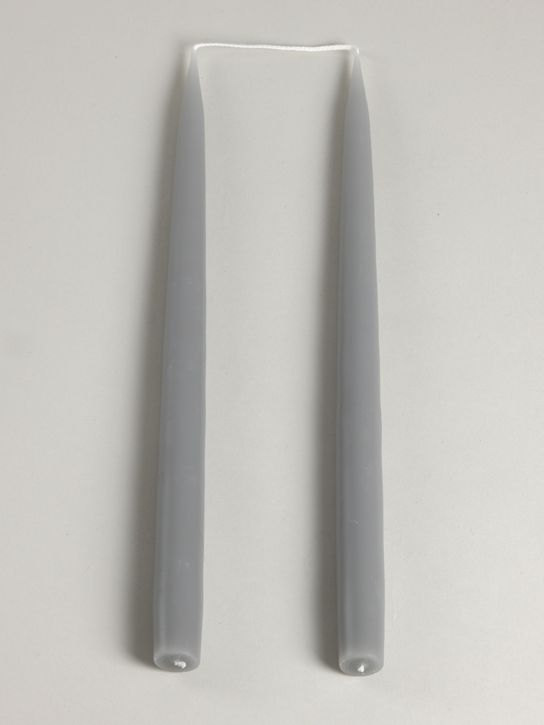 Tapered Candle – Grey – Set of 2