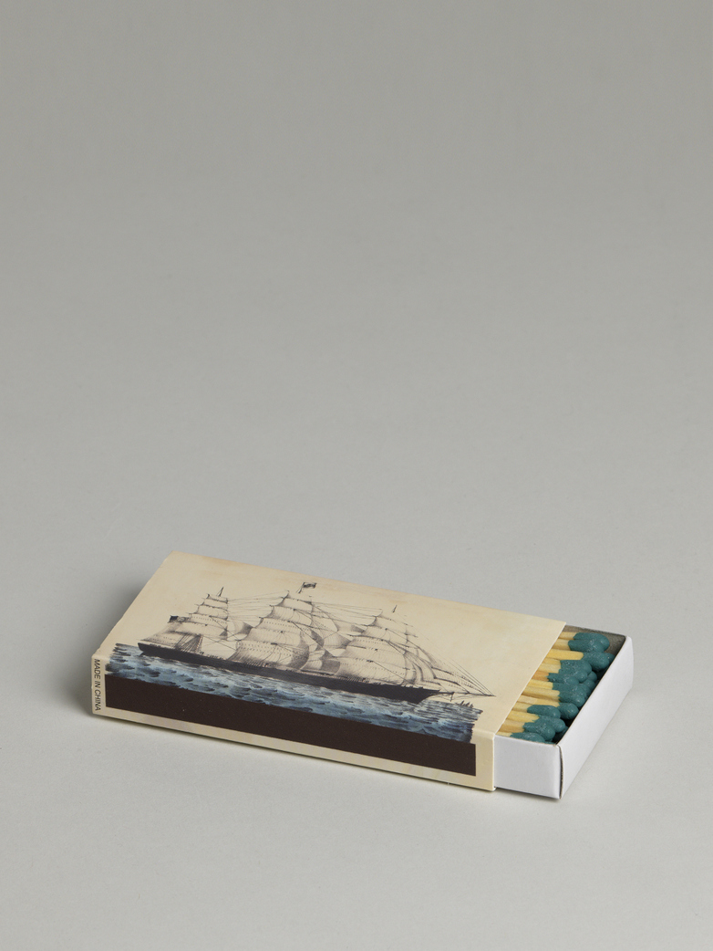 Whale & Clipper Ship Match Box