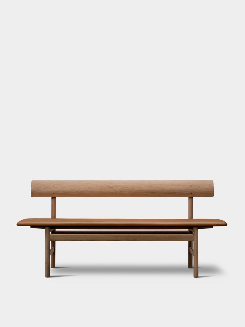 Mogensen Bench 3171 – Oak Light Oil/Leather Cognac 307