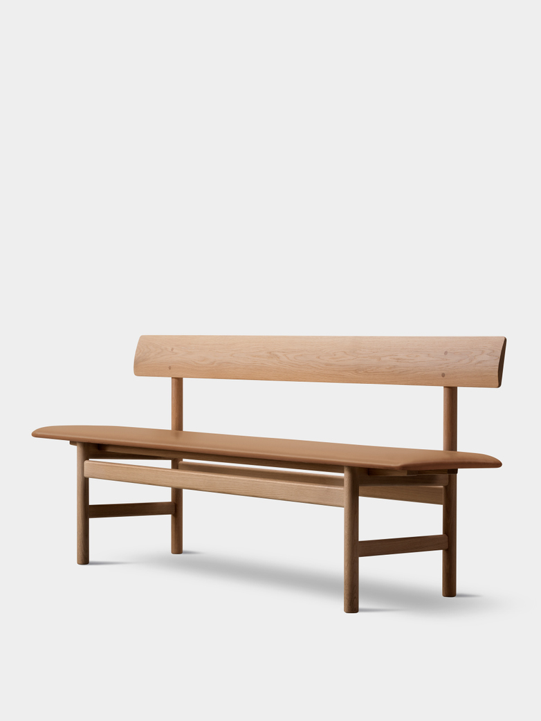 Mogensen Bench 3171 – Oak Light Oil/Leather Cognac 307