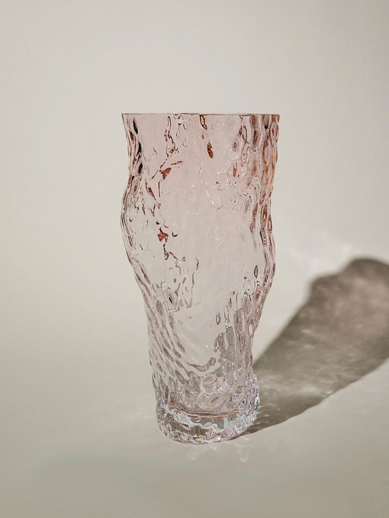 Ostrea Rock Glass Vase – Pale Pink