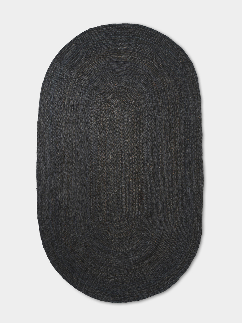 Eternal Oval Jute Rug - Large - Black