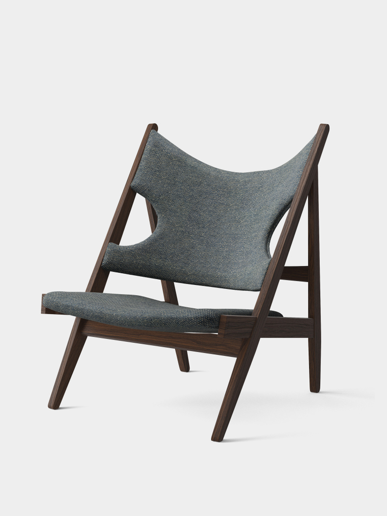 Knitting Lounge Chair - Safire - Dark Stained Oak