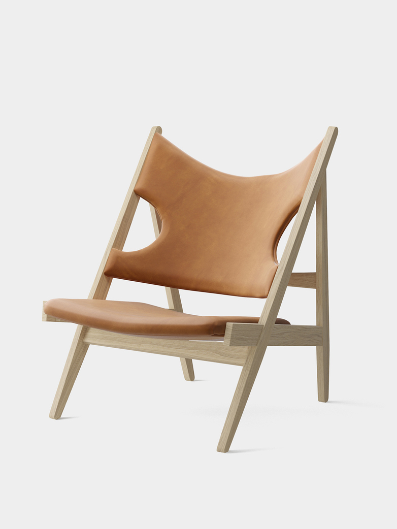 Knitting Lounge Chair - Cognac Leather - Natural Oak