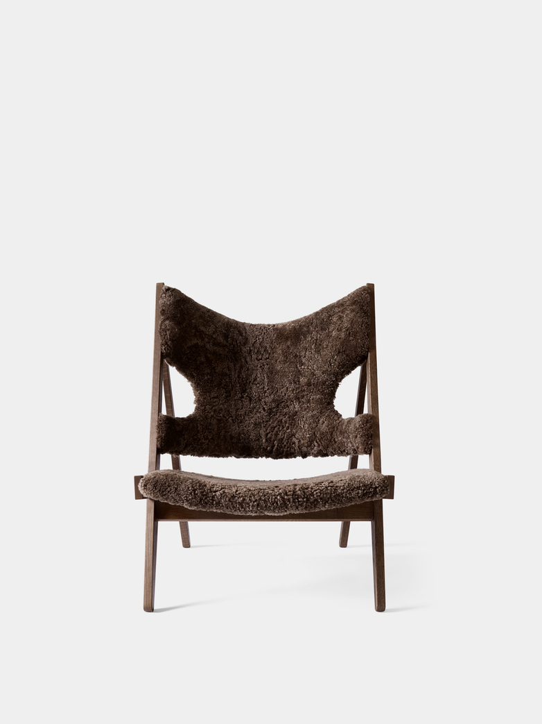Knitting Lounge Chair - Sheepskin Drake - Dark Stained Oak