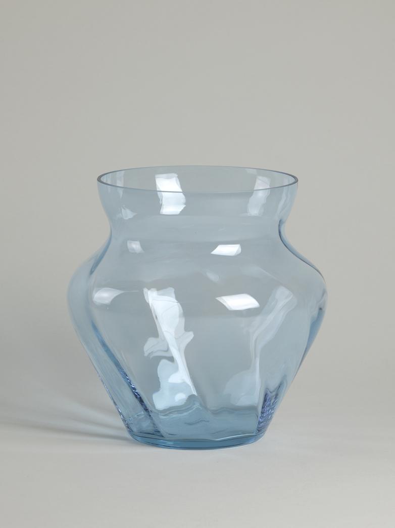 Dahlia Swirl Vase – Sky Blue