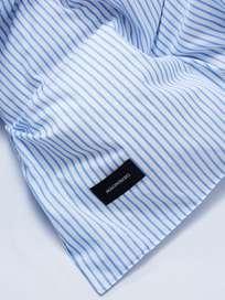 Wall Street Duvet Cover Oxford 240x220 - Striped White
