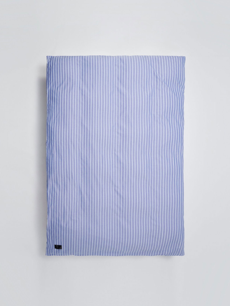 Wall Street Duvet Cover Oxford 150x210 - Striped Medium Blue​