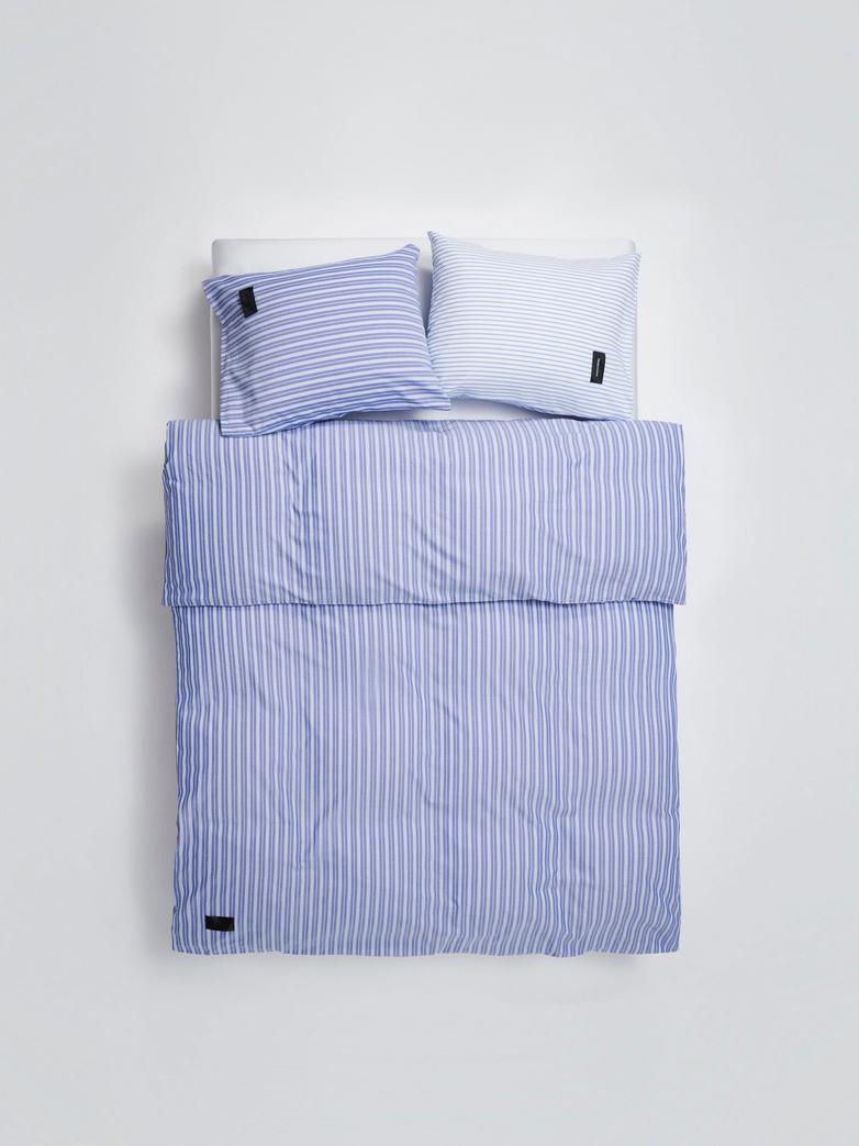 Wall Street Duvet Cover Oxford - Striped Medium Blue