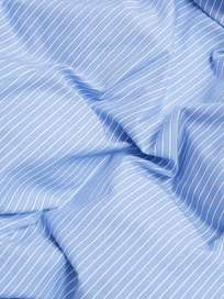 Wall Street Pillow Case Oxford - Striped Light Blue