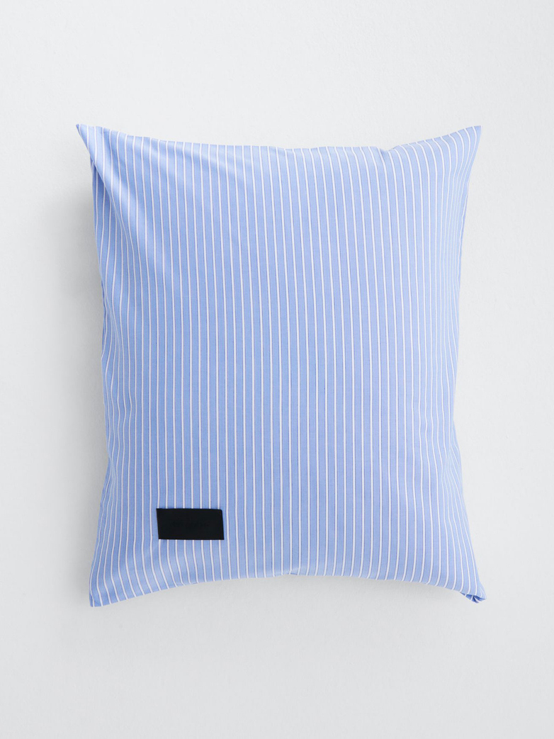 Wall Street Pillow Case Oxford - Striped Light Blue