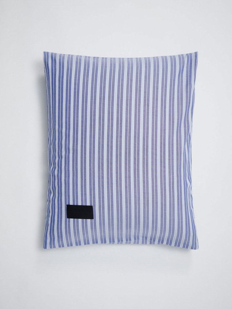 Wall Street Pillow Case Oxford - Striped Medium Blue​