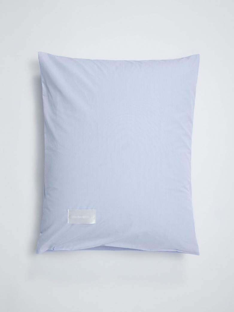 Wall Street Pillow Case Poplin - Light Blue Mini Stripes