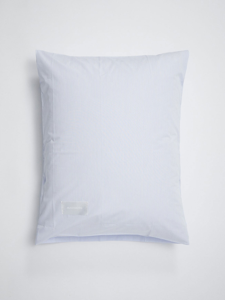 Wall Street Pillow Case Poplin - Light Blue Stripes