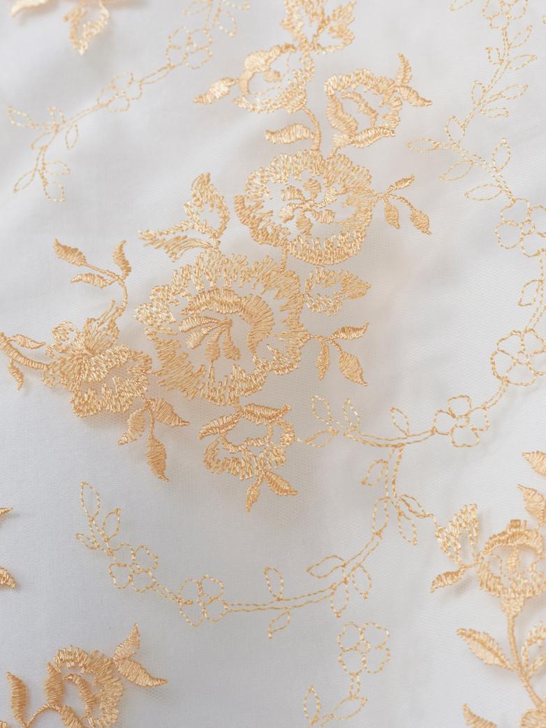 Rose Pillow Case Lace 50x60 - Apricot