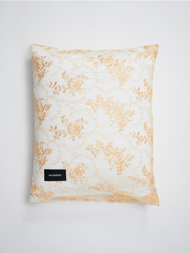 Rose Pillow Case Lace 50x60 - Apricot