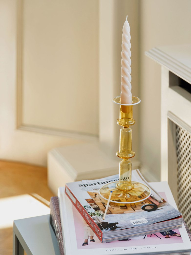 Flare Candleholder Tall - Yellow