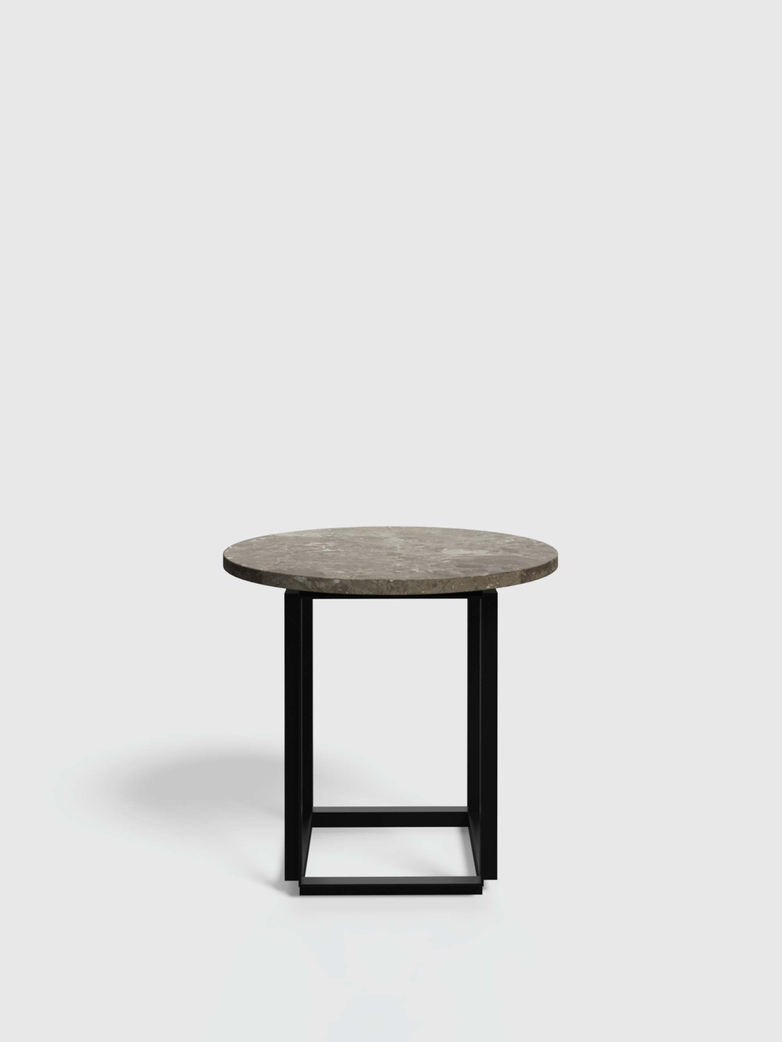 Florence Side Table - Gris du Marais Marble - Ø50
