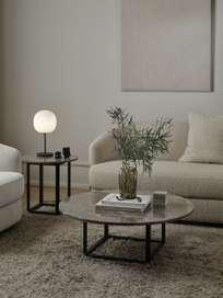 Florence Side Table - Gris du Marais Marble - Ø50