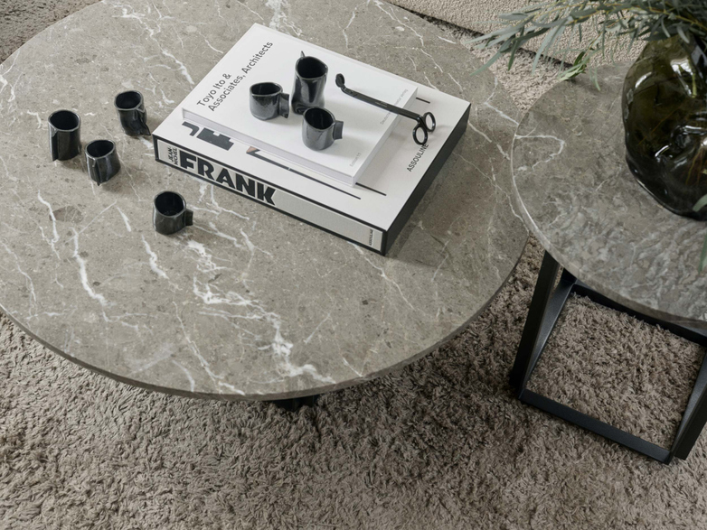 Florence Coffee Table - Gris du Marais Marble - Ø90