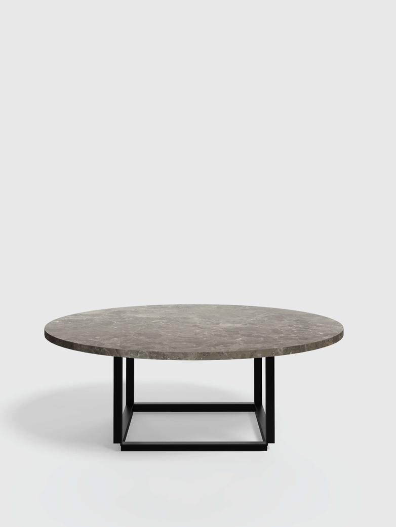 Florence Coffee Table - Gris du Marais Marble - Ø90