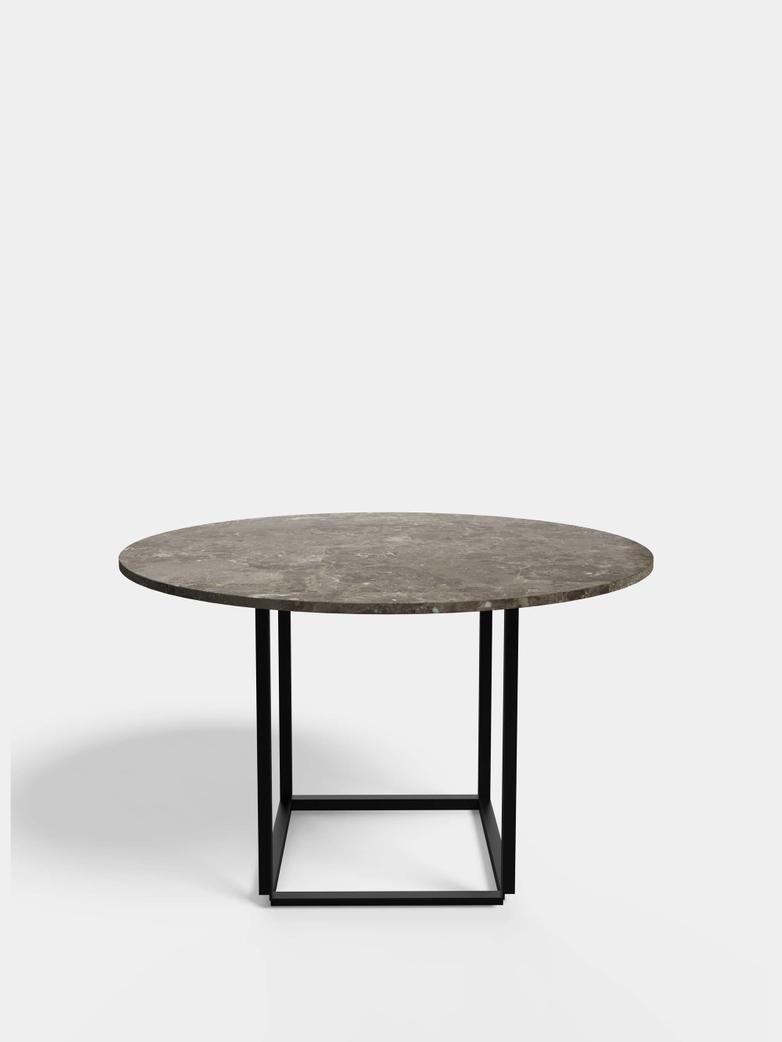 Florence Dining Table – Black Iron/Gris du Marais Marble - Ø120
