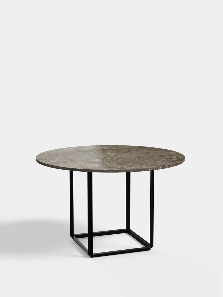 Florence Dining Table – Black Iron/Gris du Marais Marble - Ø120