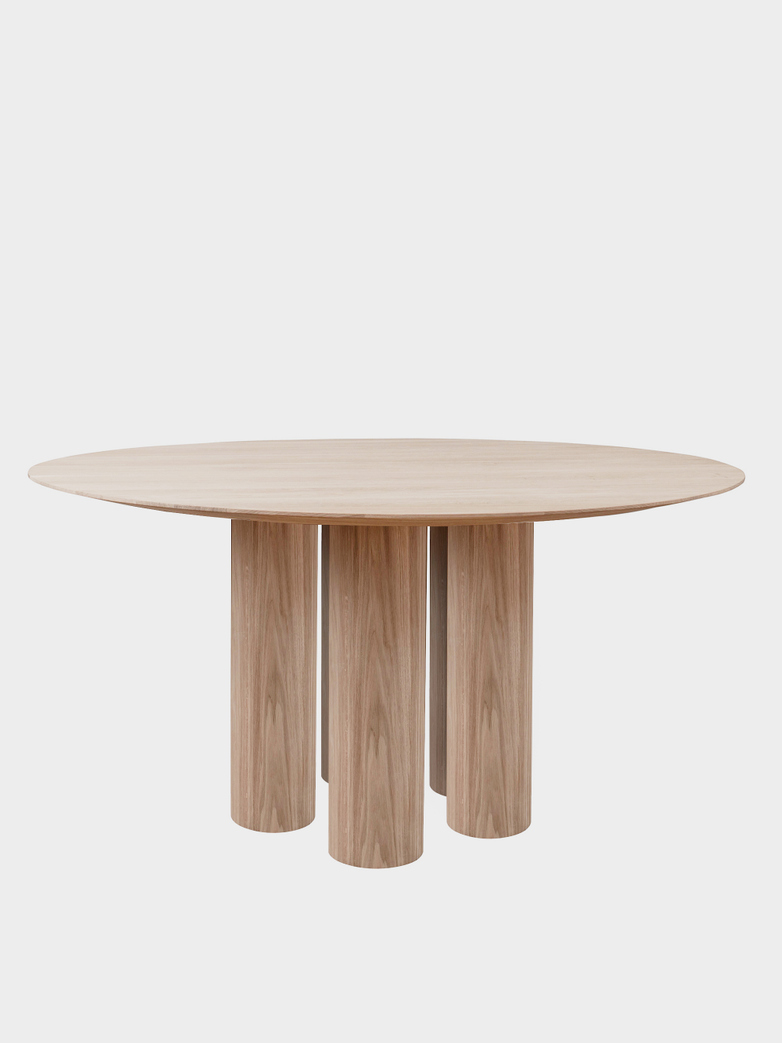 Hommage Grande Dining Table - White Stained Oak - Ø160 cm